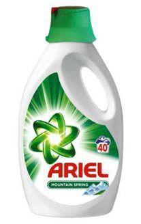 Ariel gel na praní Mountain spring 40PD (2,6l)
