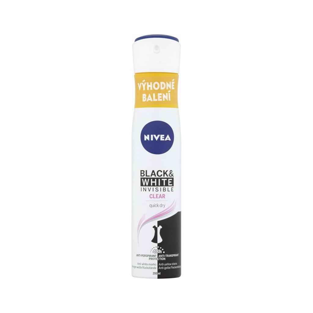 Nivea sprej anti-perspirant Black&White Clear 200ml