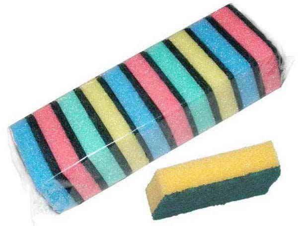 Houbička na nádobí mix barev 10ks