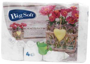Big Soft kuchyňské utěrky Jaro 2-vrstvé 4ks
