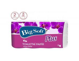 Big Soft Plus toaletní papír 2-vrstvý 8ks