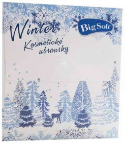 Big Soft ubrousky kosmetické Winter 2-vrstvé 75ks