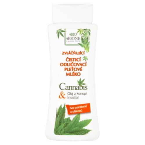 Bione Cosmetics čistící odličovací pleťové mléko Cannabis 255ml