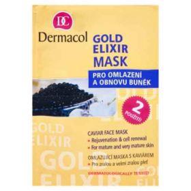 Dermacol Gold Elixír omlazující kaviárová maska 2x 8g