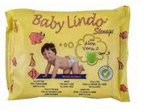 Baby Lindo cestovní ubrousky dětské vlhčené 15ks
