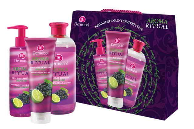 Dermacol dárková sada Gift set aroma ritual grape and lime I.