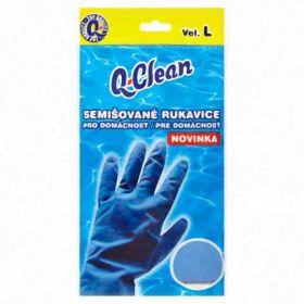 Q Clean semišované rukavice L