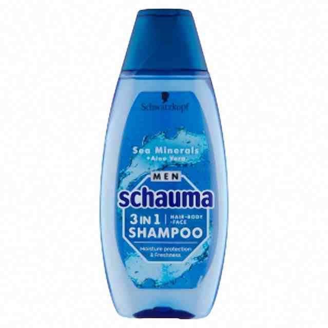 Schwarzkopf Schauma šampon Men 3v1 Sea minerals 400ml