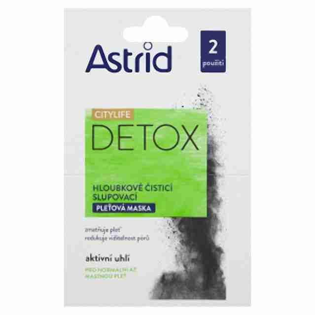 Astrid Detox pleťová maska 2x 8ml