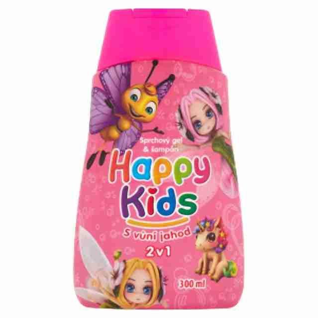 Happy kids sprchový gel dívčí300ml