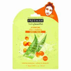 Freeman látková hydratační maska Aloe-vera a rakytník 25ml