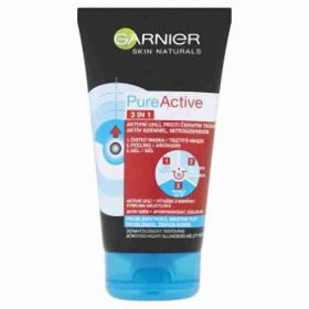Garnier PureActive 3v1 černá maska na obličej s aktivním uhlím 150ml