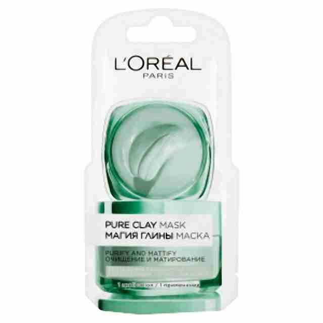 Loreal Paris Pure Clay Detox čistící a zmatňující maska 6ml