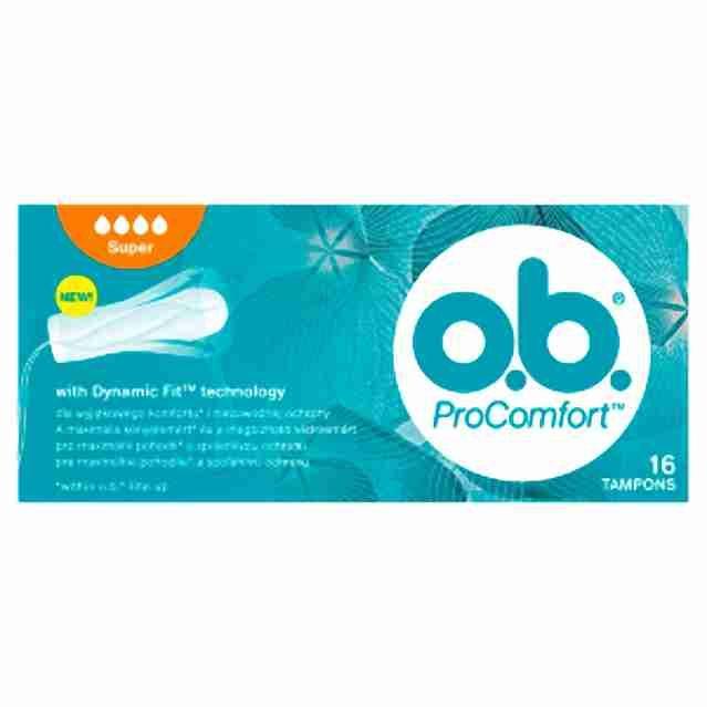 o.b. tampony new Pro Comfort super Blossom16ks