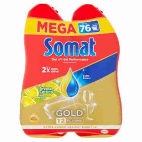 Somat Gold Grease Cutting gel Lemon&Lime 2x 684ml