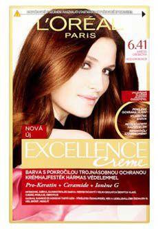 L'oreal Paris excellence barva na vlasy 6.4 hnědá oříšková