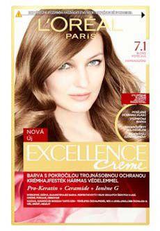 L'oreal Paris excellence barva na vlasy 7.1 blond popelavá