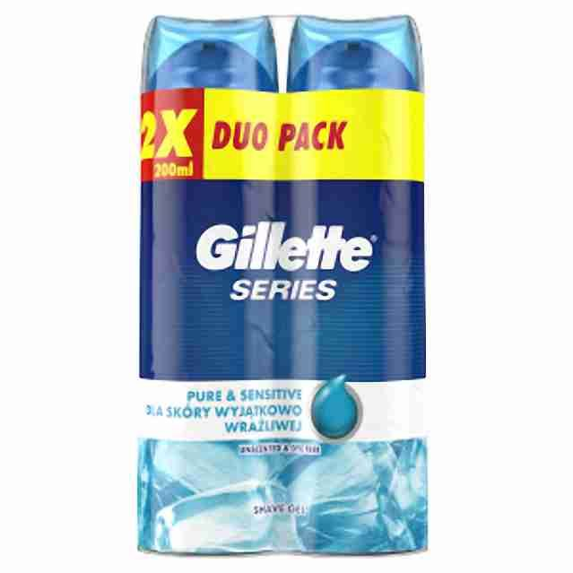 Gillette gel na holení Series Ultra Sensitive 2x 200ml