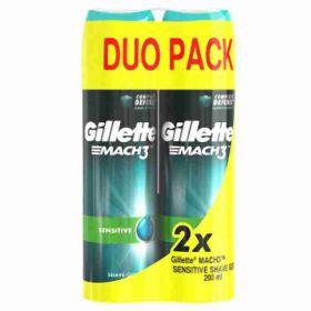Gillette Mach3 gel na holení Sensitive 2x 200ml