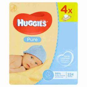 Huggies Wipes quad Pure 4x 56ks