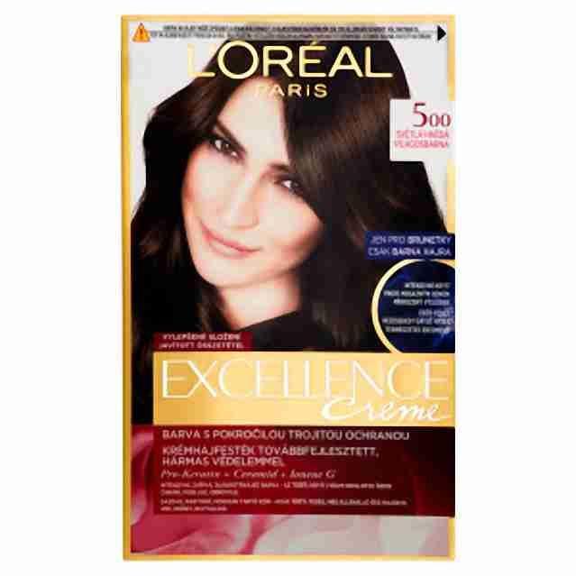 L'oreal Paris excellence barva na vlasy 5 Hnědá světlá