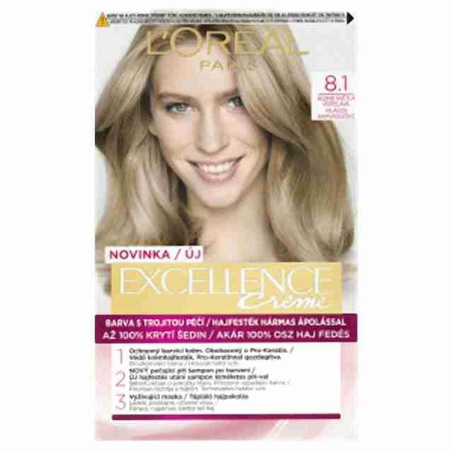 L'oreal Paris excellence barva na vlasy 8.1 blond světlá popelavá