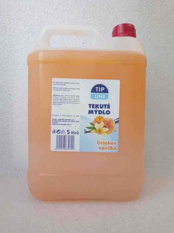 Tip Line tekuté mýdlo kanystr Broskev + vanilka 5L