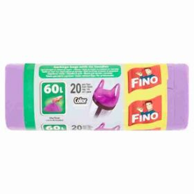 Fino pytle na odpad s uchy fialové 49×60cm; 60L; 20ks
