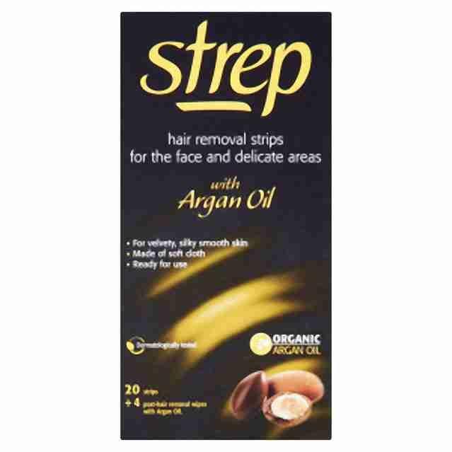Strep depilační pásky na obličej a bikiny s arganovým olejem 20ks