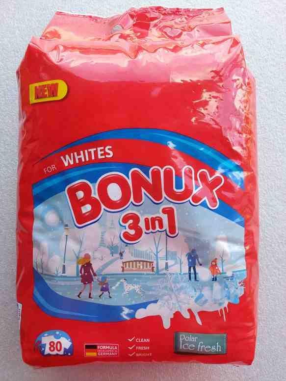 Bonux prášek na praní Polar Ice fresh - white 80PD