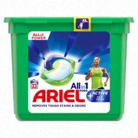 Ariel kapsle na praní Active Deo Fresh bílé 23ks