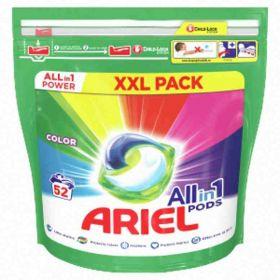 Ariel kapsle na praní color 52ks