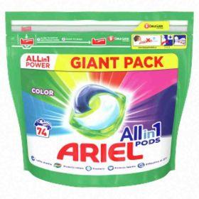 Ariel kapsle na praní Color74ks