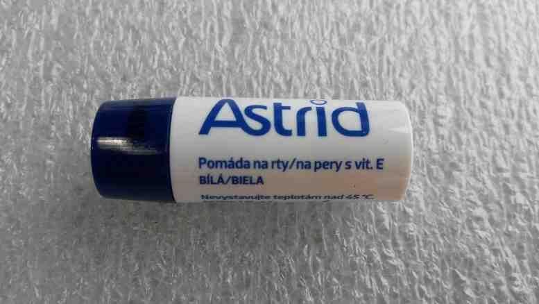 Astrid pomáda na rty s vitaminem E bílá 3g