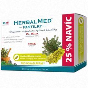 HerbalMed Dr.Weiss pasilky Islandský lišejník+tymián+med+vit.C 30ks