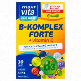 MaxiVita B komplex forte + vitamin C 30ks