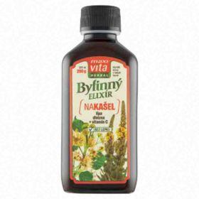 MaxiVita Bylinný elixír na kašel lípa divizna + vitamin C 200ml