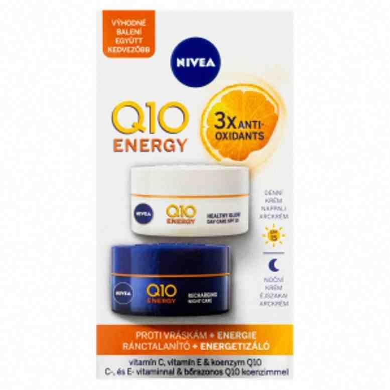 Nivea denní a noční krém proti vráskám Q10 Energy Energizující 2x 50ml
