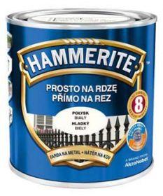 Hammerite hladká bílá 0,25L