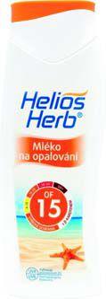 Helios herb mléko na opalování OF15 betakaroten 400ml