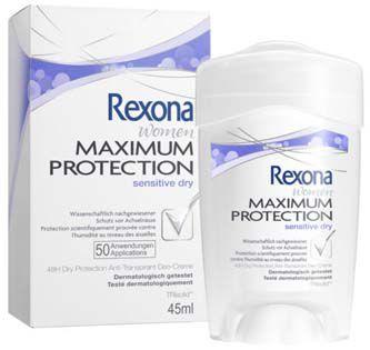 Rexona krémový antiperspirant women Maximum Protection Sensitive Dry 45ml