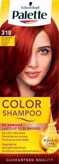 Schwarzkopf Palette color shampoo 318 intenzivní červený