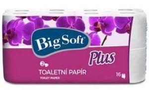 Big Soft Plus toaletní papír 2vrstvý 16x160 útržků