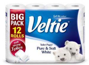 Kleenex Veltie toaletní papír 3-vrstvý bílý 12ks