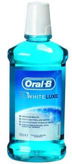 Oral B ústní voda 3D White Luxe 500ml