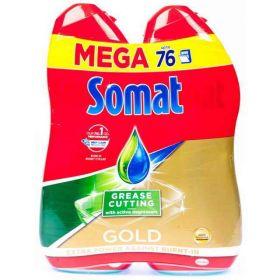 Somat MEGA Gel Gold Anti-grease 2x 684ml