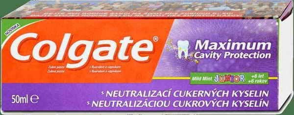 Colgate zubní pasta Max Cavity Protection Junior 50ml